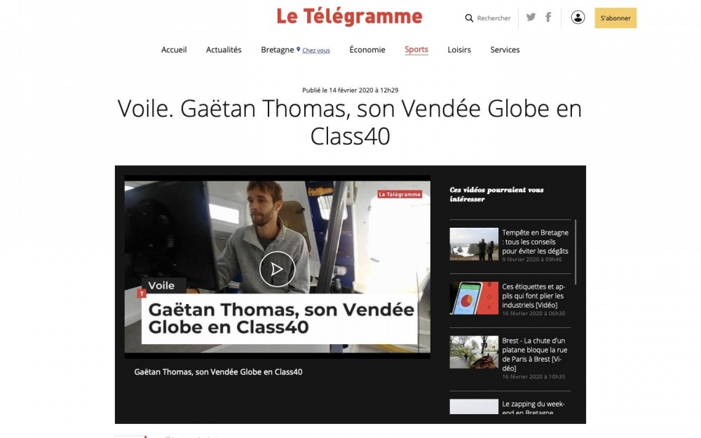 Gaetan Thomas - French Interview with Press